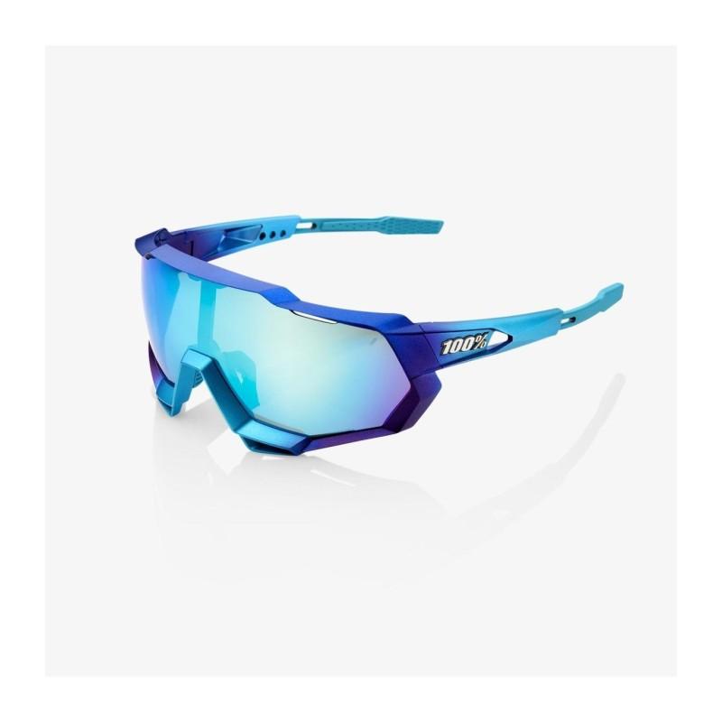 Gafas SPEEDTRAP - Matte Metalic Into The Fade-Blue Topaz Multilayer Mirror Lens