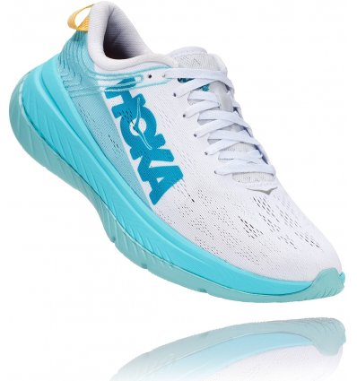 Hoka One One Carbon X Zapatillas Running Mujer, White/Angel Blue (2020)