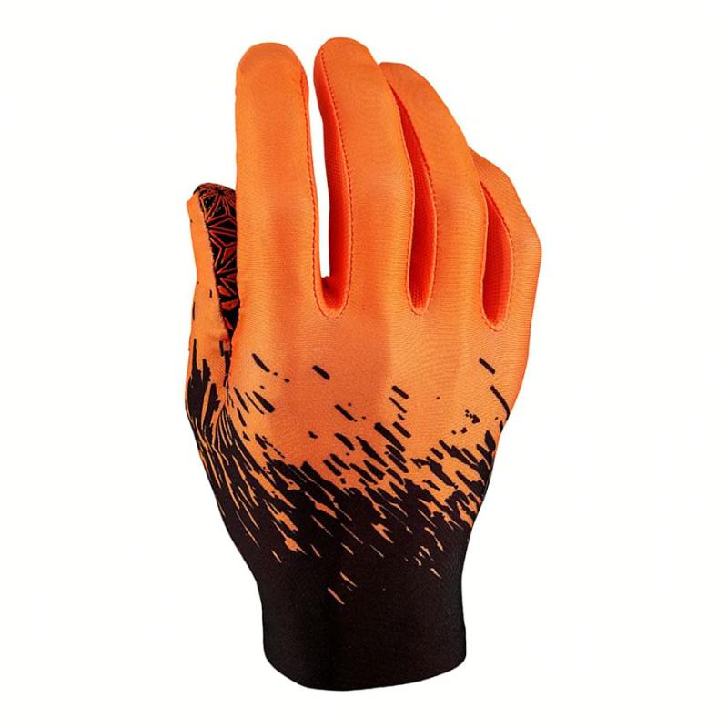 Guantes Supag largos negro naranja flúor