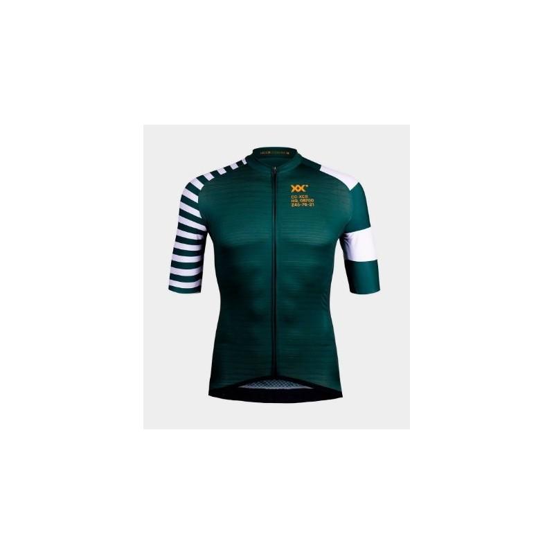 maillot ixcor gaultier manga corta (verde botella)