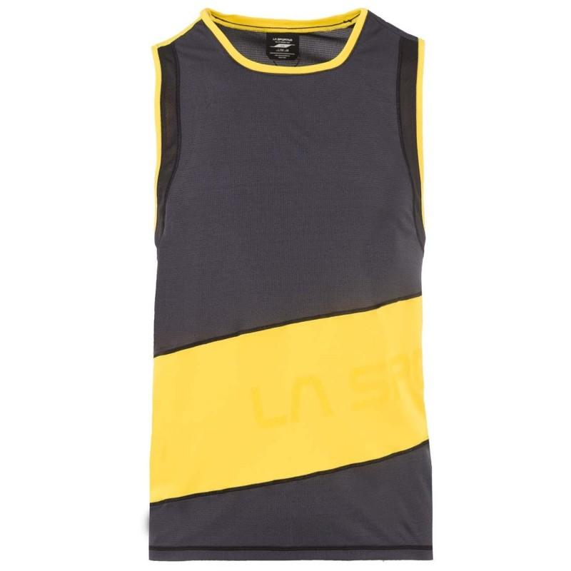 Camiseta La Sportiva S/Manga hombre Track Tank M Black/Yellow