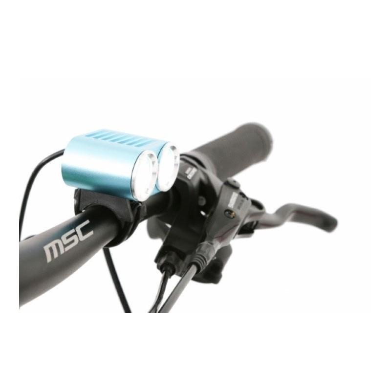 Luz ciclismo MSC Bikes 2400 lumens doble foco