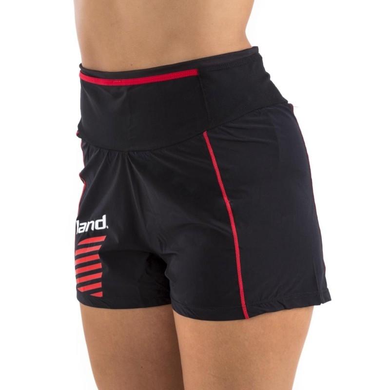 Pantalón Corto Mix Trail mujer (negro-rojo)