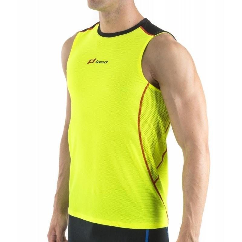 Camiseta S/Mangas Trail Hombre - Virtual (amarillo-negro)