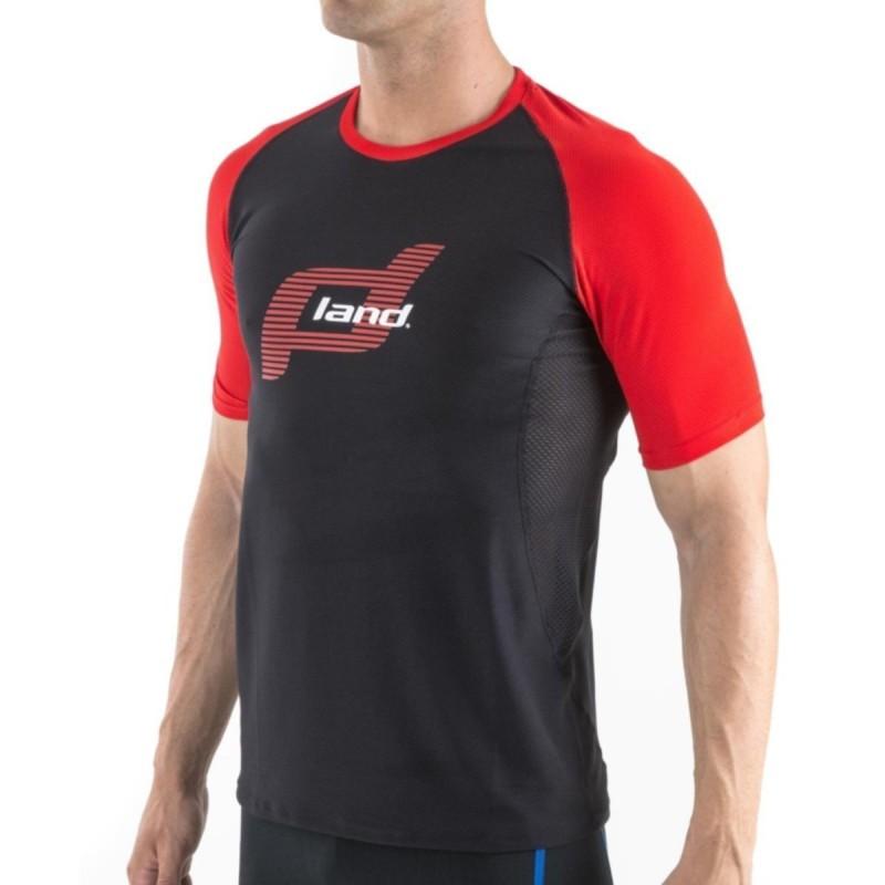 Camiseta M/Corta Hombre Reference (negro-rojo)