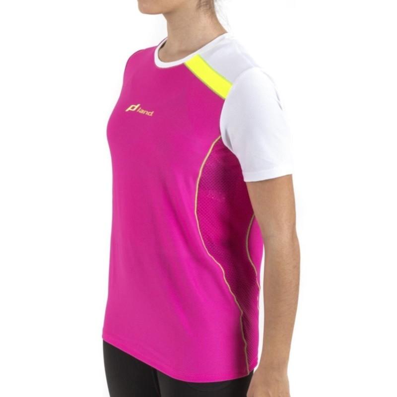 Camiseta M/Corta Trail Ilusion (rosa-blanco)