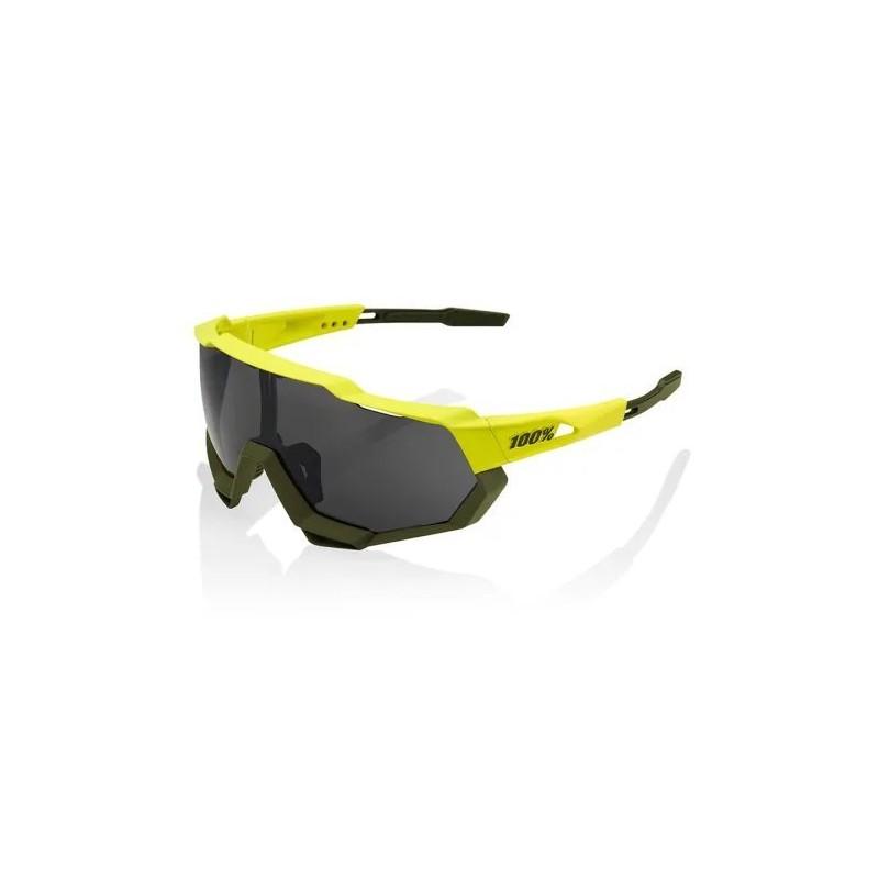 Gafas 100% SPEEDTRAP Soft Tact Banana-Black Mirror Lens